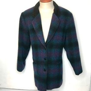 Woolrich Women's Wool Pea Coat Blazer Made in USA